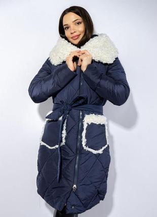 Зимнее пальто (куртка) с меховыми вставками, xs-s, s-m, m-l1 фото