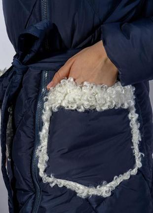 Зимнее пальто (куртка) с меховыми вставками, xs-s, s-m, m-l6 фото