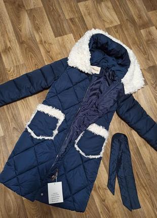 Зимнее пальто (куртка) с меховыми вставками, xs-s, s-m, m-l8 фото