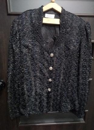 Винтажный ажурный пиджак sally usa