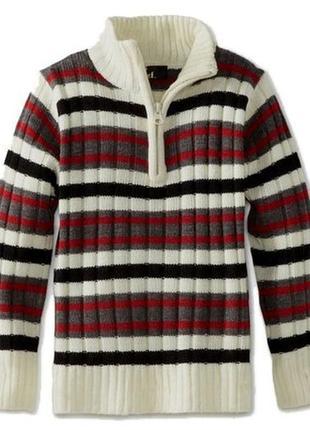 Пуловер в полоску x-label
