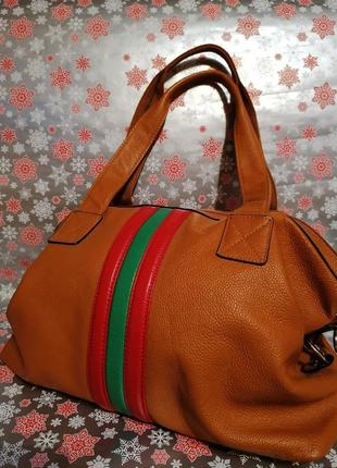 Большая сумка. натуральная кожа.