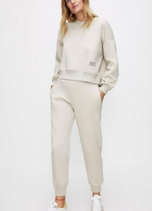 Женские штаны на флисе100% cotton zara original spain