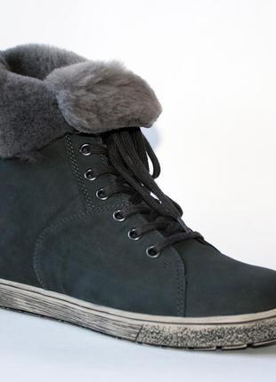 Зимние ботинки go soft германия, оригинал. нат. кожа, цигейка. 42 размер