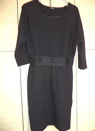 Платье черное motivi italy,красивое,пояс резинка