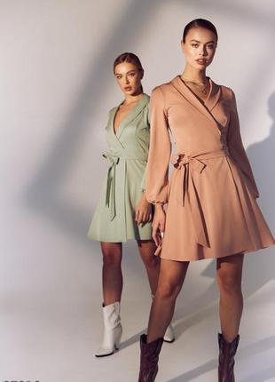 Платье-мини на запах