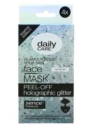 Essential daily care глиттерная маска пленка для лица с блестками отшелушивающая очищающая