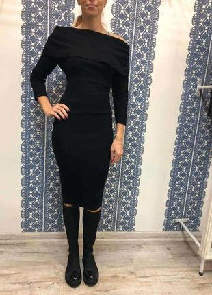 Платье миди трикотаж