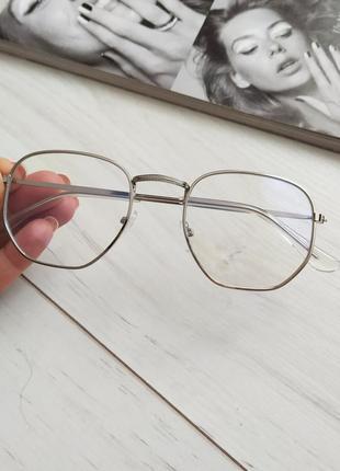 Очки имиджевые, очки компьютерные линза с антибликом