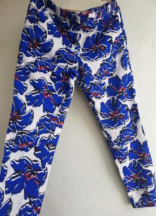 Летние чиносы, брюки в цветочный принт, atmosphere, размер 12 ,  46