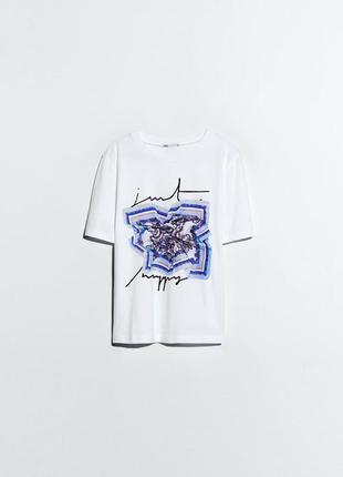 Классная футболка размер с , м ,л zara свежая коллекция