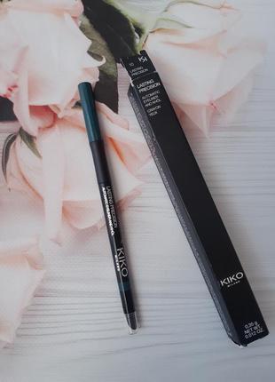 Автоматический зеленый карандаш для глаз kiko milano #10