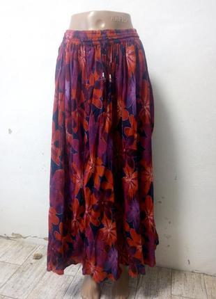 Длинная летняя юбка free size