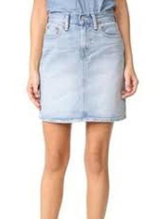 Джинсовая юбка карандаш высока посадка для дюймовочки от lc waikiki