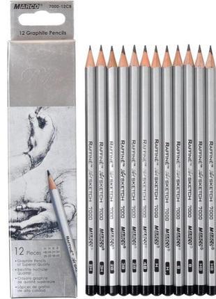 Карандаши marco графитные, разной твердости