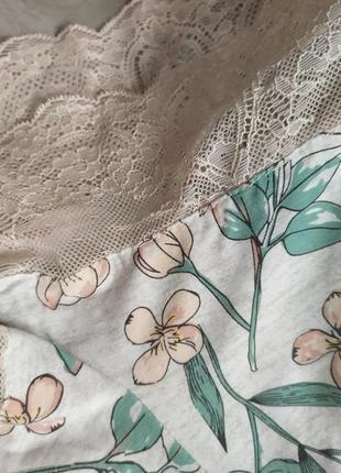 Персиковые пижамные шортики шорты пижама с кружевом8 фото