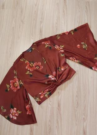 Трендовая блуза- топ в цветочный принт