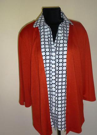 Кофта со вставкой блузки collection london