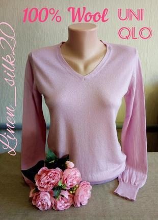 Пуловер бренда uniqlo из 100% шерсти