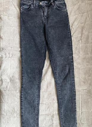 Черные/серые skinny/скинни джинсы