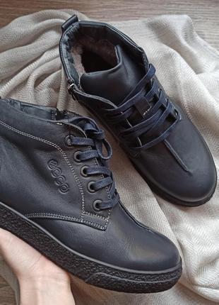 Ботинки кожаные, боты мужские, чоловічі боти