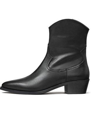 Ботинки, козаки massimo dutti, кожа