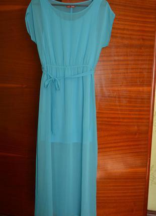 Нежное шифоновое длинное платье от фирмы твое