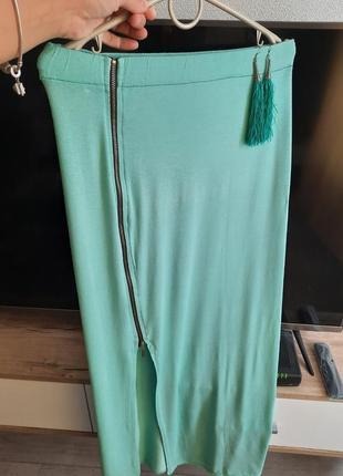 Мятное юбка +подарок серьги