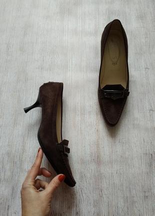 Tod's, кожаные, замшевые туфли пенни лоферы