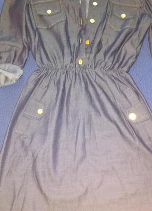 Плаття з тоненького джинса