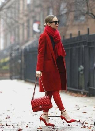 Vestino красное пальто оверсайз валеная шерсть тренч весна с капюшоном