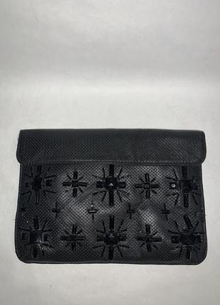 Испания! кожаная красивая фирменная сумка- клатч- косметичка zara.