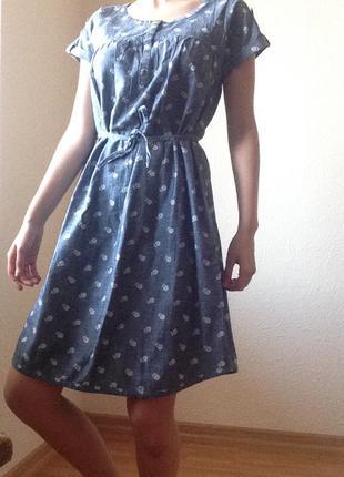 ✨ платье под джинсу с цветками old navy
