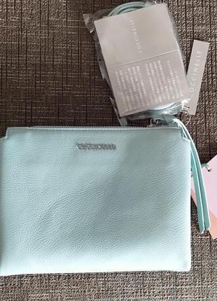 Новая сумка coccinelle кожа мятный цвет кроссбоди съёмные ручки (короткая, длинная)3 фото