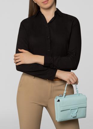 Новая сумка coccinelle кожа мятный цвет кроссбоди съёмные ручки (короткая, длинная)5 фото