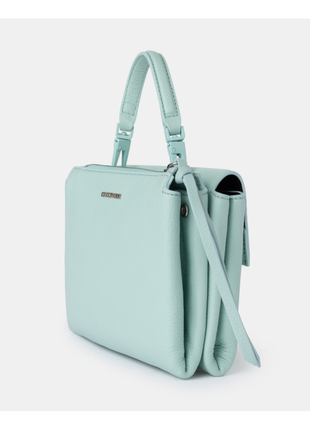 Новая сумка coccinelle кожа мятный цвет кроссбоди съёмные ручки (короткая, длинная)7 фото
