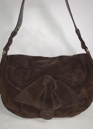 Кожаная фирменная сумочка на плечо kew.