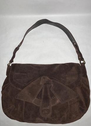 Кожаная фирменная сумочка на плечо kew.3 фото