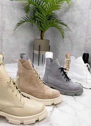 Жіночі черевики чорні деми / зима натуральна замша 36-41 рр