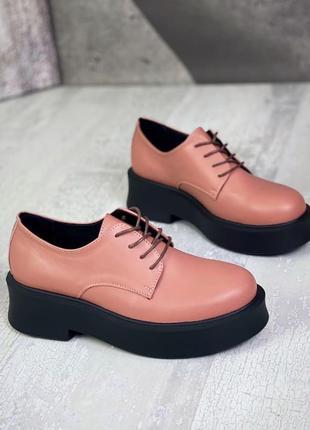 Крутые туфли кожа