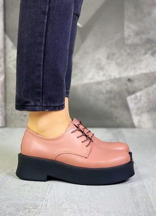 Крутые туфли кожа2 фото