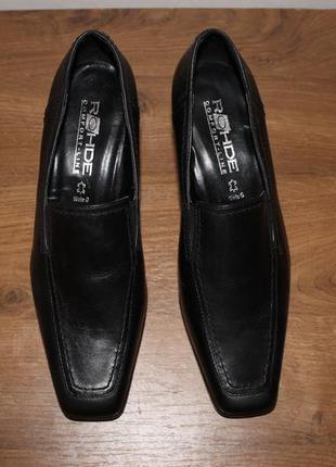 Кожаные туфли от немецкого бренда rohde, 37.5 размер