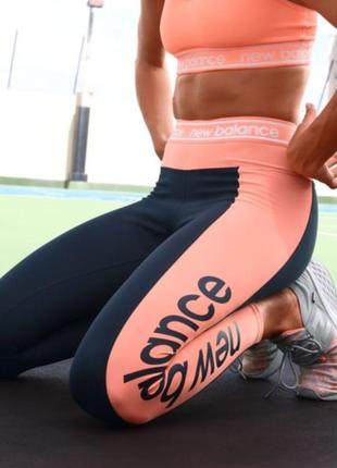 New balance relentless graphic спортивные лосины\синие легинсы m\10\38