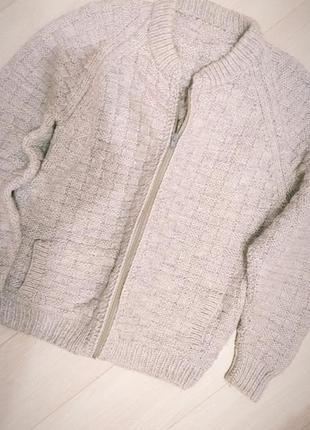 Теплый свитер, мужской, на замке