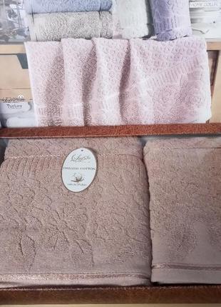 Luisa luxury. комплект премиум полотенец. полотенца. рушники.