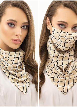 Стильная и удобная маска-платок