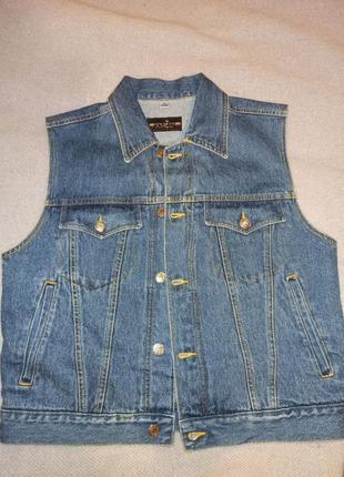 Нова джинсова брендова модна безрукавка