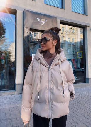 Куртка из эко-кожи в стиле zara