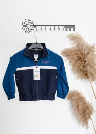 Lacoste темно-синяя, стильная олимпийка.