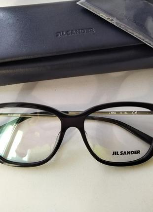 Новая оправа jil sander оригинал очки премиум жиль сандер made in italy cateye1 фото